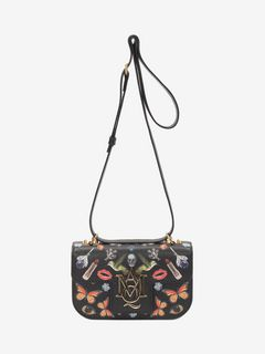 Obsession Print Insignia Cross Body Satchel