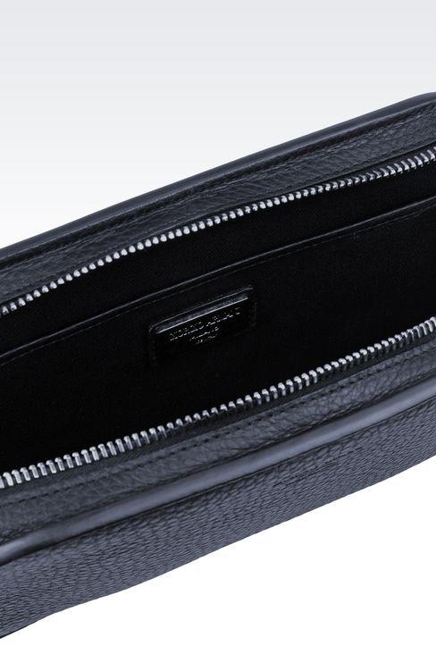タンブルドカーフスキン製のマネーバッグです: マネーバッグ メンズ by Armani - 3