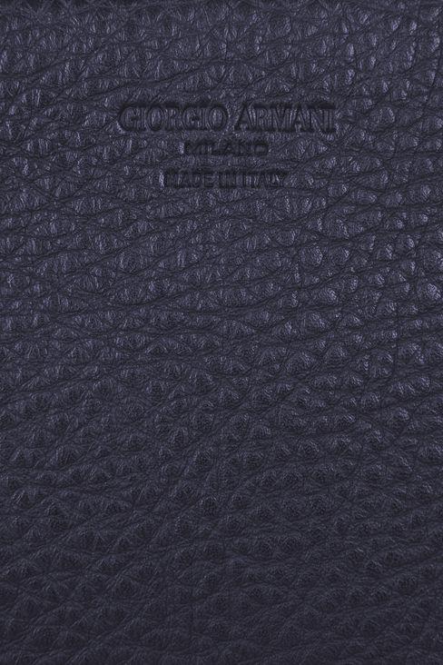 タンブルドカーフスキン製のマネーバッグです: マネーバッグ メンズ by Armani - 4