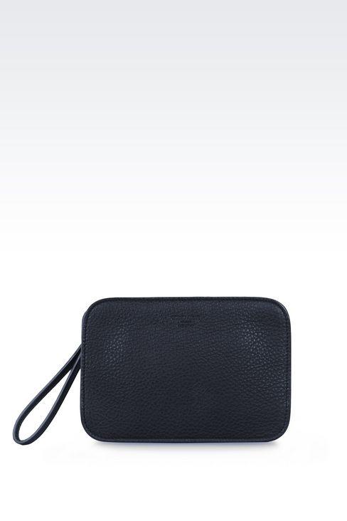 タンブルドカーフスキン製のマネーバッグです: マネーバッグ メンズ by Armani - 1
