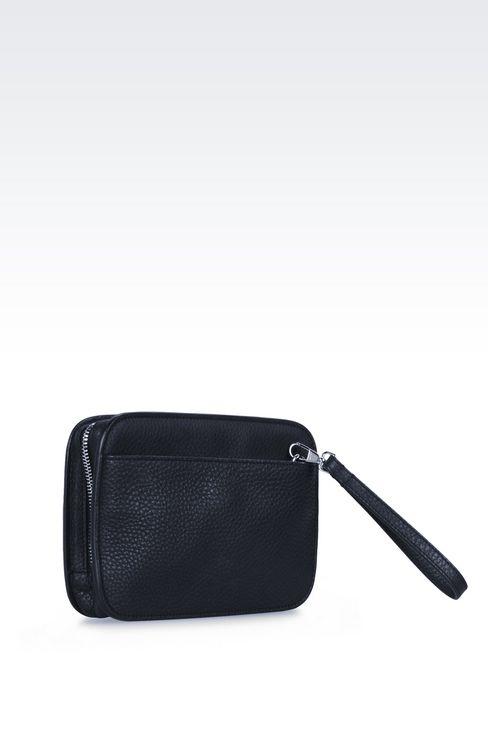 タンブルドカーフスキン製のマネーバッグです: マネーバッグ メンズ by Armani - 2
