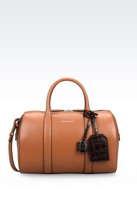 Armani Bauletto bags Women bauletto bag in smooth calfskin