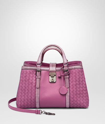 SMALL ROMA BAG IN PEONY NAPPA WITH AYERS DETAILS
