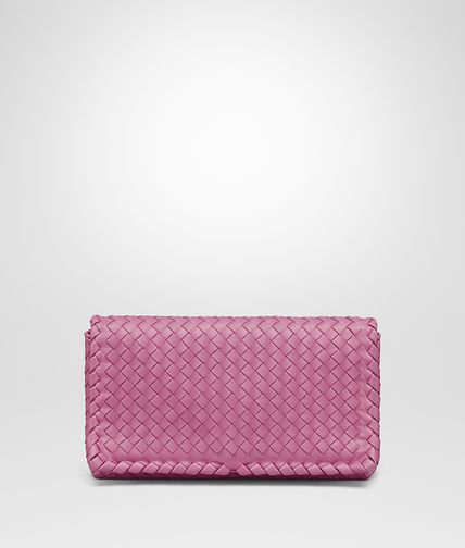 CLUTCH BAG IN PEONY INTRECCIATO NAPPA