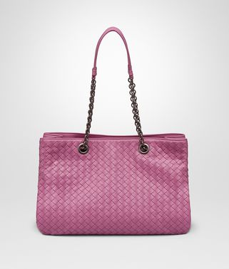 BORSA SHOPPING MEDIA IN INTRECCIATO NAPPA PEONY
