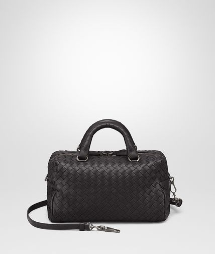 MINI TOP HANDLE BAG IN NERO INTRECCIATO NAPPA