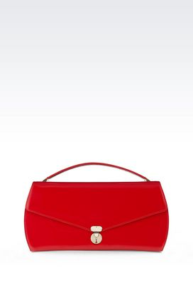 Armani Top handles Women clutch in calfskin