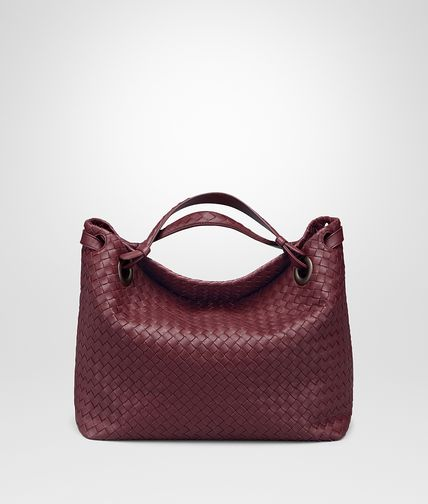 MEDIUM SHOULDER BAG IN BAROLO INTRECCIATO NAPPA