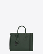 Classic Small SAC DE JOUR Bag in Dark Green Grained Leather