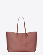 Large SHOPPING SAINT LAURENT Tote Bag color blush scuro in pelle