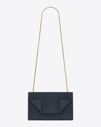 Medium BETTY Bag in Navy Blue Suede and Leather