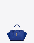 Baby MONOGRAM SAINT LAURENT CABAS Bag in Ultramarine Leather and Suede