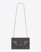 Medium BETTY Bag in Dark Anthracite Suede and Leather