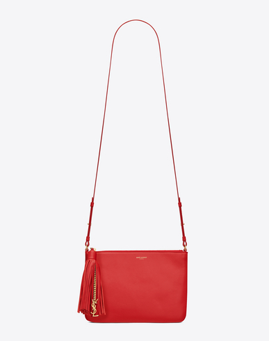yves saint laurent bag - SAINT LAURENT Small Monogram Crossbody Bag In Red Leather