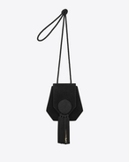 OPIUM 3 Tassel Bag in Black Suede and Silk Cording