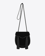 OPIUM 2 Tassel Bag in Black Velour and viscose Cording