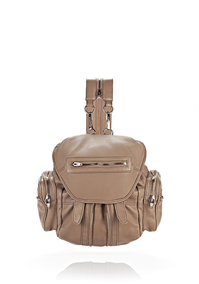 ALEXANDER WANG BACKPACKS Women MARTI IN LATTE WITH ROSE GOLD