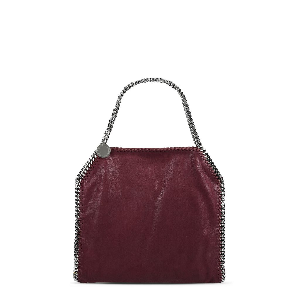 Falabella Small Tote in Shaggy Deer Color Prugna