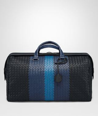 MEDIUM DUFFEL BAG IN MULTICOLOR INTRECCIATO CLUB LAMB LEATHER