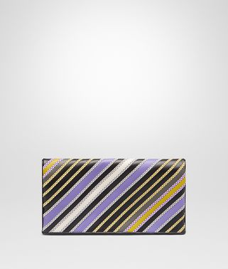 CLUTCH BAG IN LAVENDER MULTI NERO NAPPA