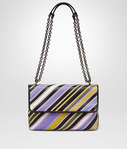 SMALL OLIMPIA BAG IN LAVENDER MULTI NERO NAPPA