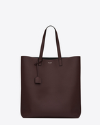 SHOPPING SAINT LAURENT Tote Bag bordeaux e nera in pelle