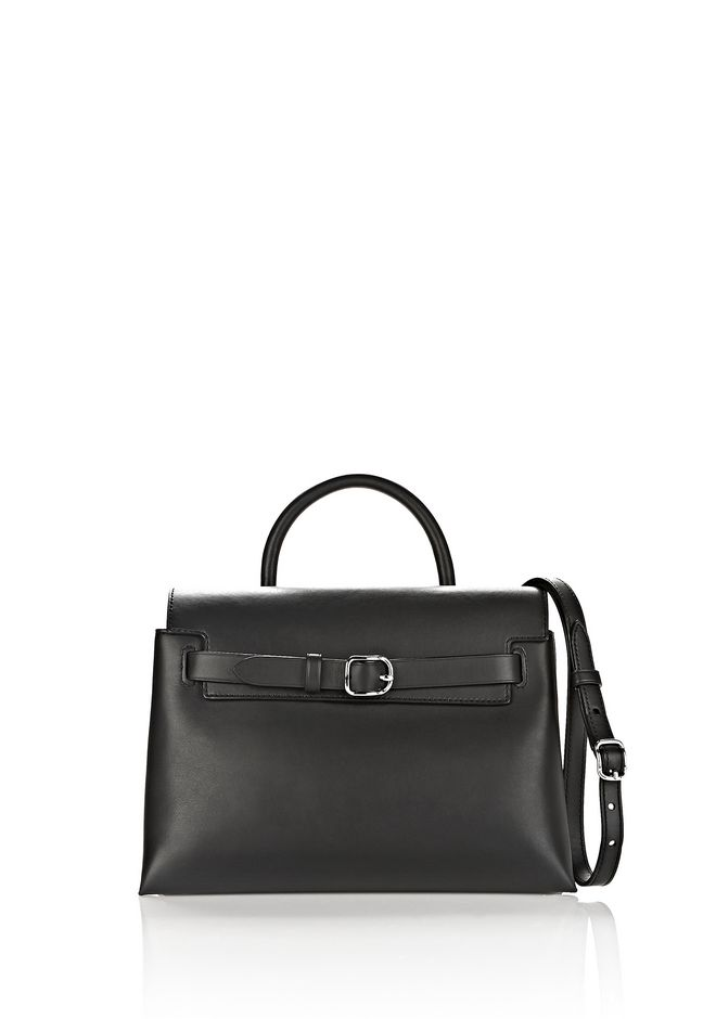 ALEXANDER WANG MESSENGER BAGS ATTICA CHAIN CROSSBODY IN BLACK WITH RHODIUM