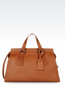 Armani Top handles Women large le sac 11 bag in calfskin