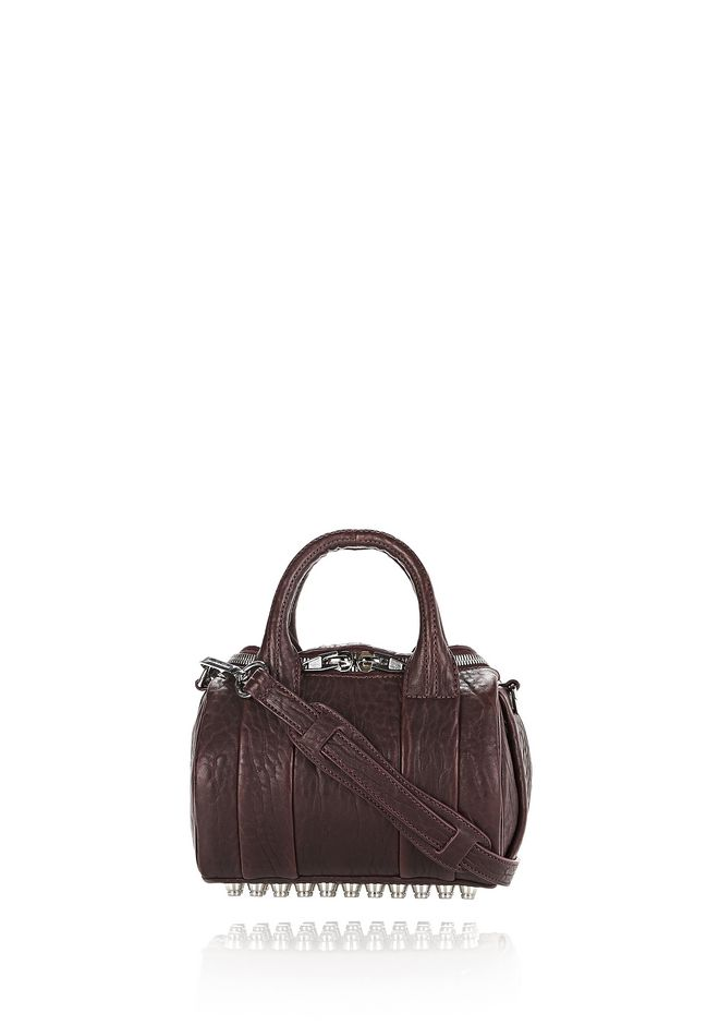 ALEXANDER WANG Shoulder bags MINI ROCKIE IN PEBBLED BEET WITH RHODIUM