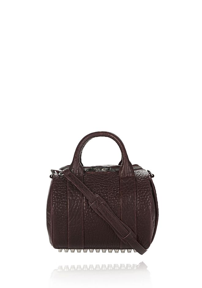 ALEXANDER WANG Shoulder bags ROCKIE IN PEBBLED BEET WITH RHODIUM