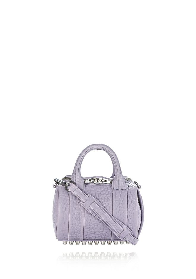 ALEXANDER WANG Shoulder bags Women MINI ROCKIE IN PEBBLED LAVENDER WITH RHODIUM