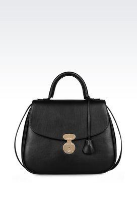 Armani Top handles Women cross body bag in calfskin