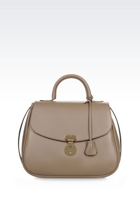 Armani Borse a mano Donna borsa top handle in pelle