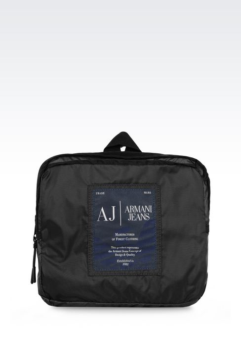 PACKABLE BACKPACK IN TECHNICAL FABRIC: Rucksacks Men by Armani - 3