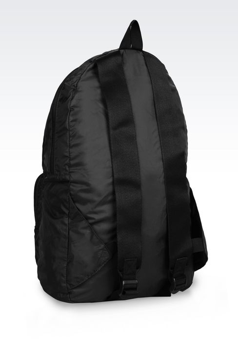 PACKABLE BACKPACK IN TECHNICAL FABRIC: Rucksacks Men by Armani - 4