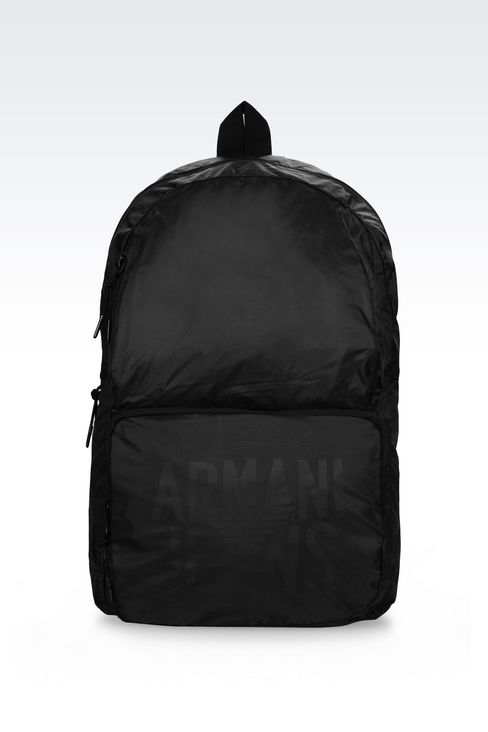 PACKABLE BACKPACK IN TECHNICAL FABRIC: Rucksacks Men by Armani - 1