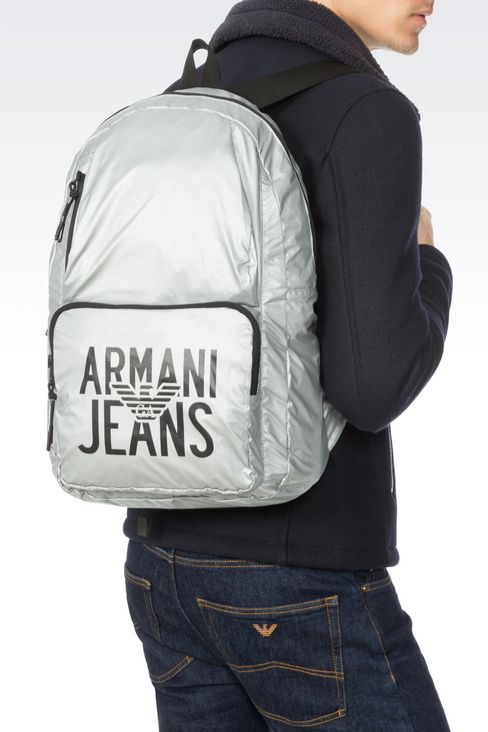 PACKABLE BACKPACK IN TECHNICAL FABRIC: Rucksacks Men by Armani - 2