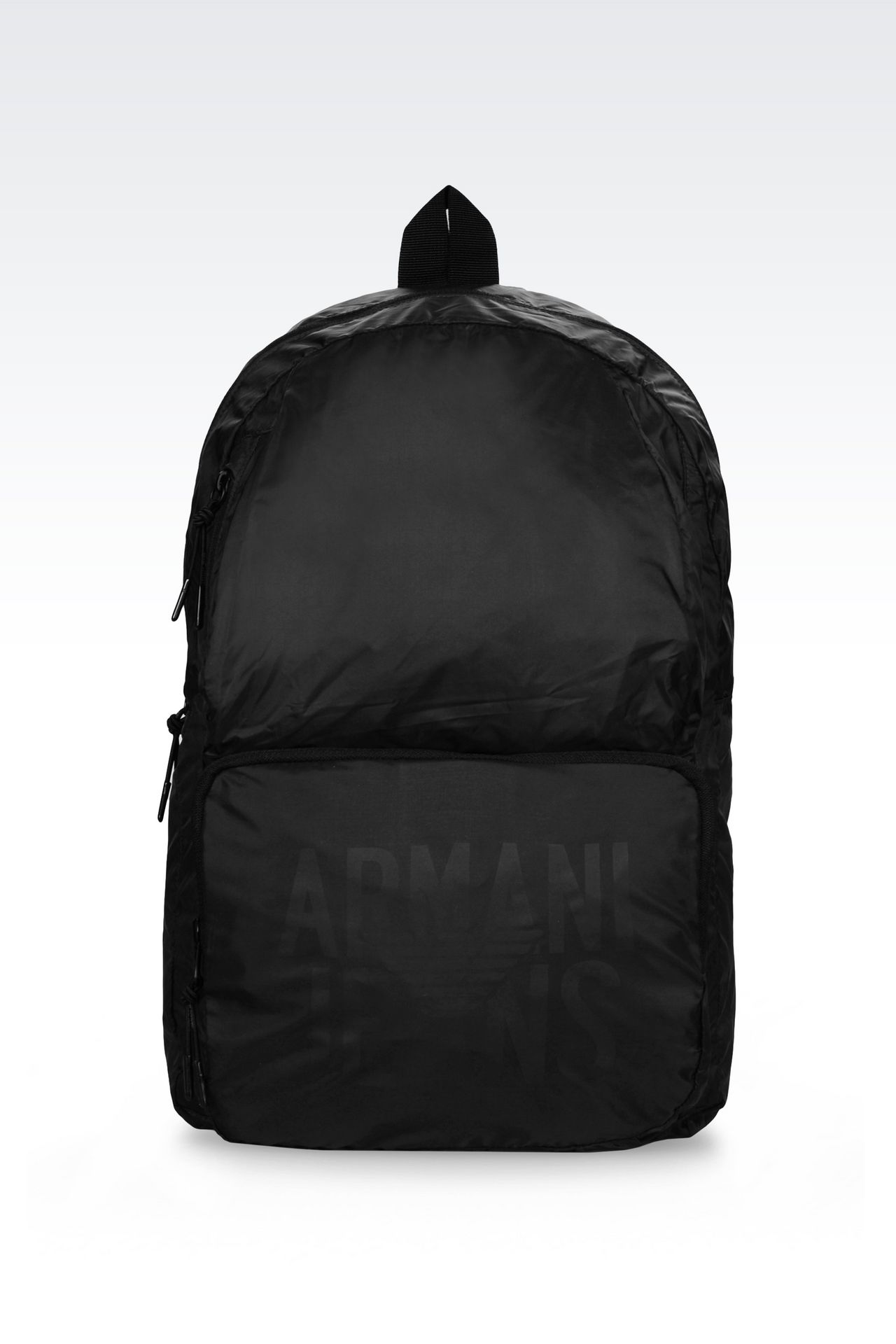 PACKABLE BACKPACK IN TECHNICAL FABRIC: Rucksacks Men by Armani - 0