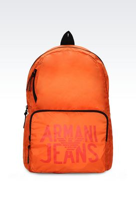 Armani Backpacks Men packable backpack in technical fabric
