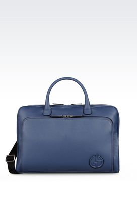Armani Satchels Men briefcase in tumbled calfskin