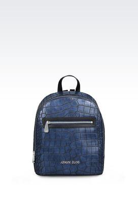 Armani Sacs à dos Femme sac à dos avec imprimé crocodile