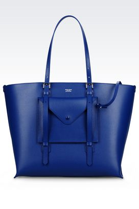 Armani Shoppers Women tote bag in boarded calfskin