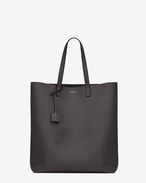 shopping saint laurent tote bag  grigio antracite scuro in pelle