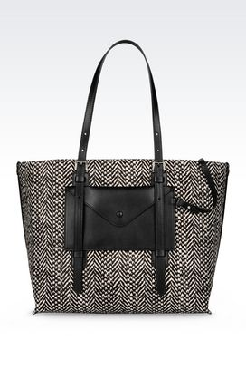 Armani Shoppers Women tote bag in pony skin