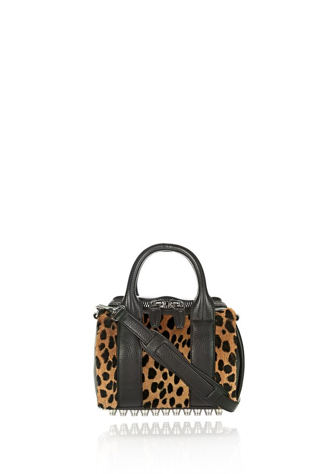 ALEXANDER WANG Shoulder bags Women MINI ROCKIE IN PRINTED CHEETAH WITH RHODIUM