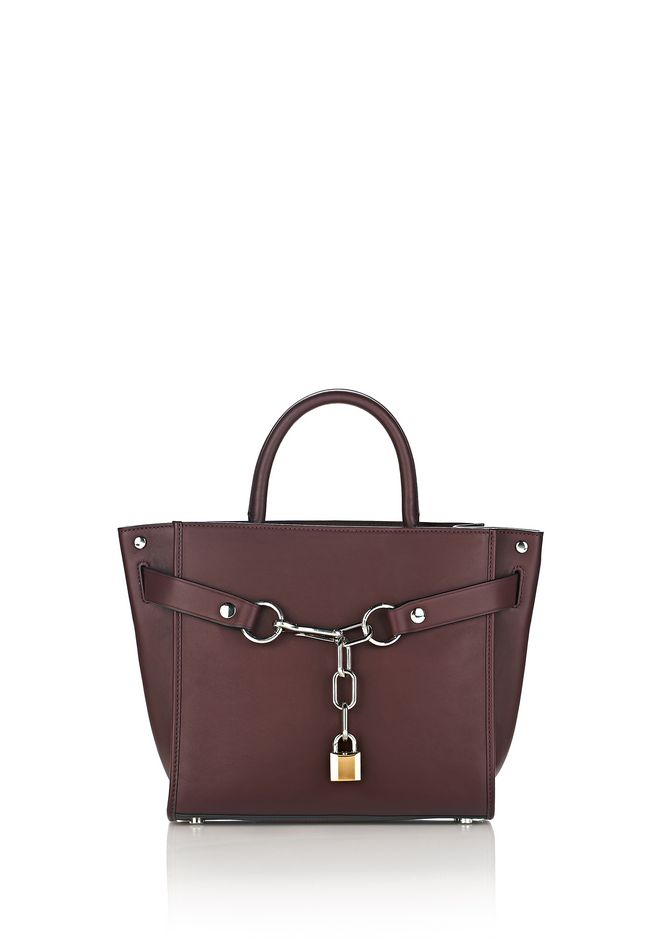 ALEXANDER WANG Shoulder bags Women ATTICA CHAIN SATCHEL IN BEET WITH RHODIUM