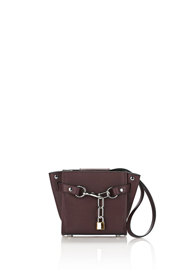 ALEXANDER WANG Shoulder bags Women  ATTICA MINI CHAIN SATCHEL IN BEET WITH RHODIUM
