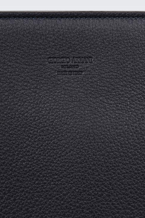 タンブルドカーフスキン製ドキュメントホルダー: トップハンドルバッグ メンズ by Armani - 4