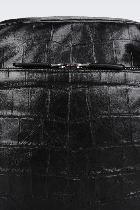 カーフスキン製クロスボディバッグ クロコダイルプリント: メッセンジャーバッグ メンズ by Armani - 5