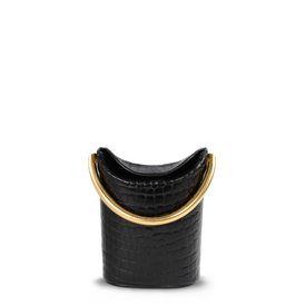 Black Alter Croc Shoulder Bag